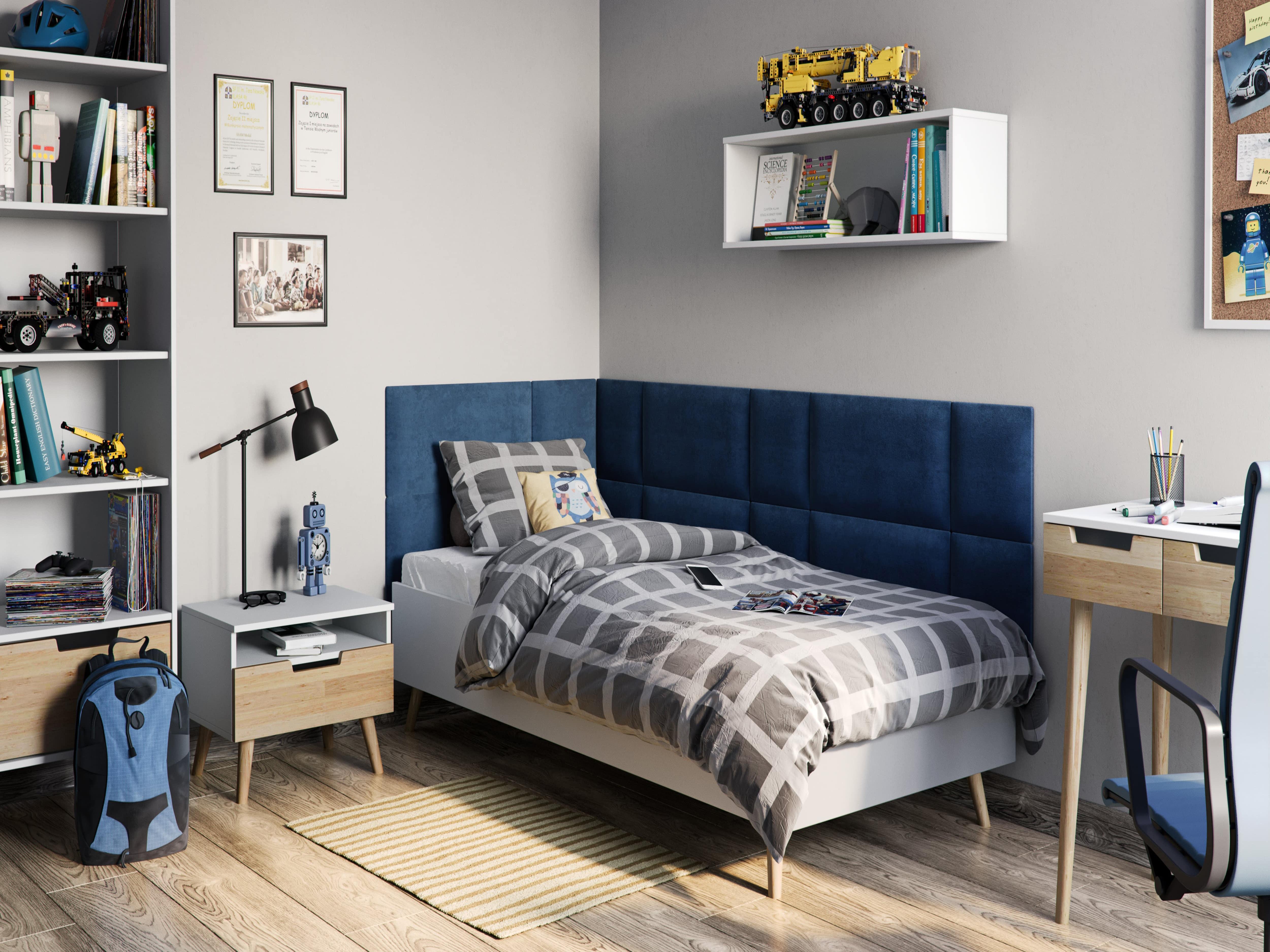 tapizado azul